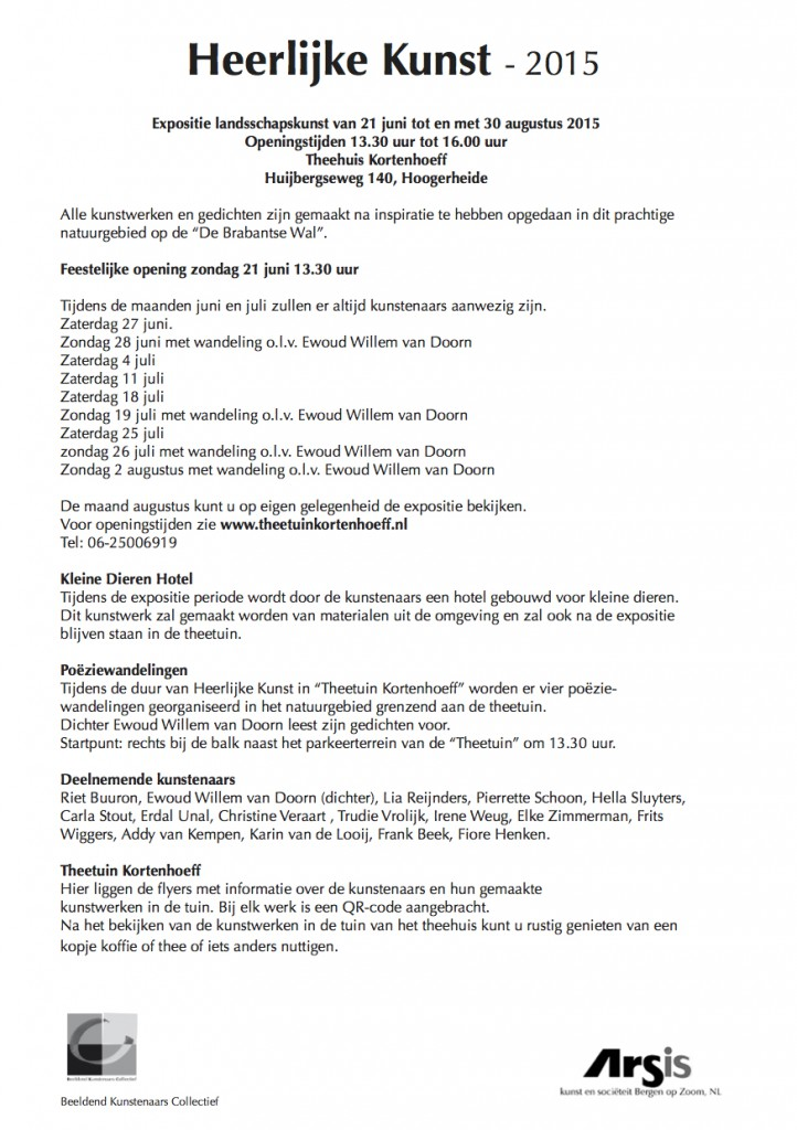 Heerlijke Kunst 2015 info