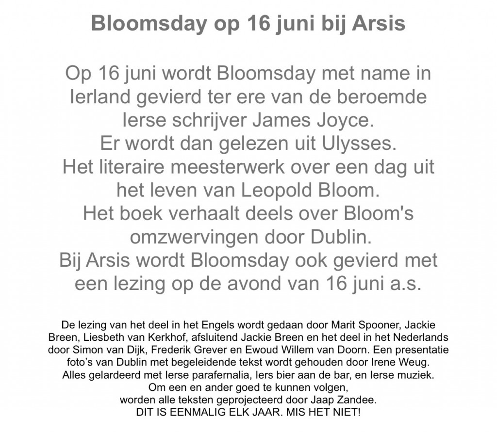tekst Bloomsday correctie