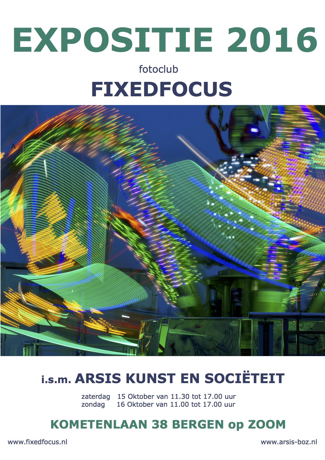 Expositie door de leden van <br> Fotoclub Fixed Focus bij Arsis