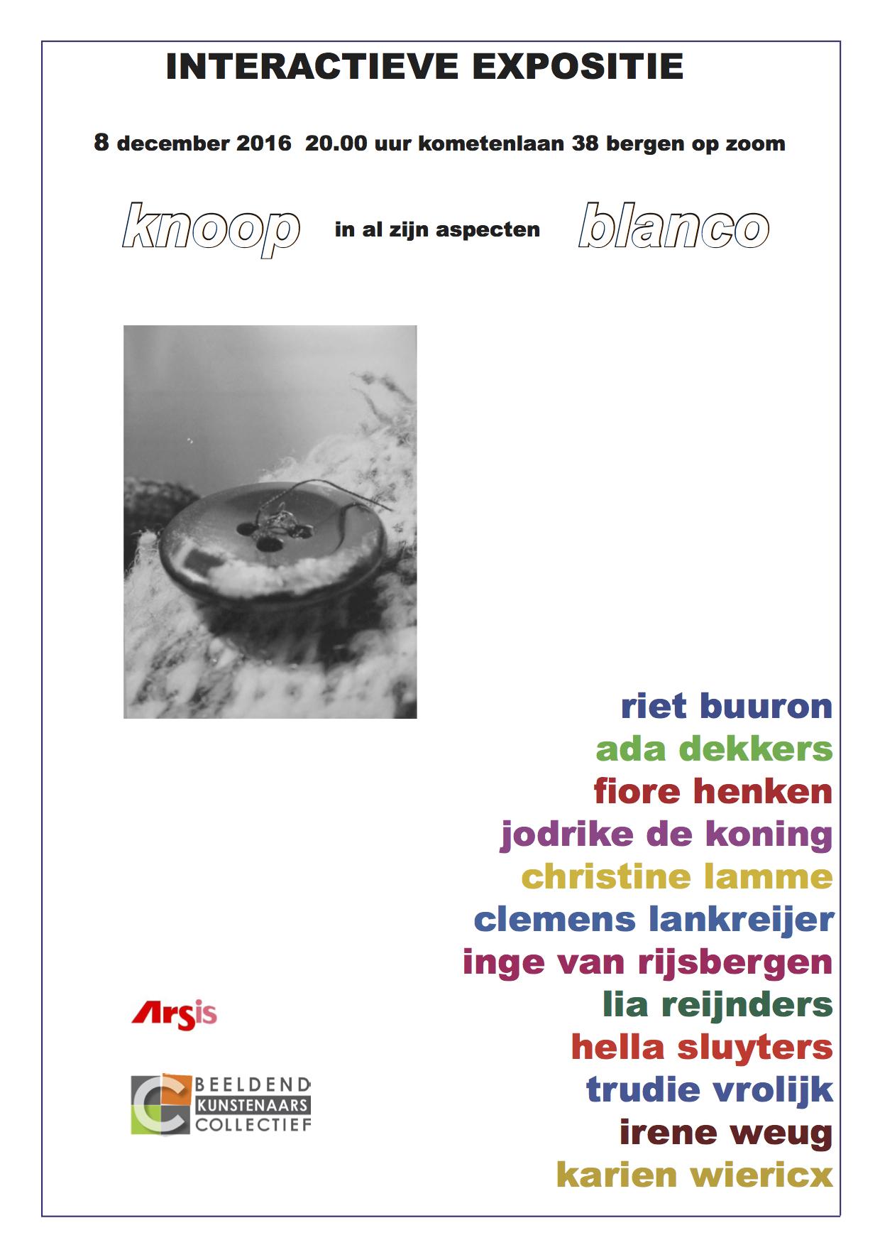 Expositie kunstenaarsgroep BLANCO