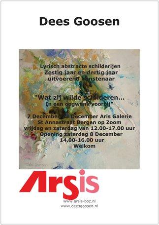 December expositie in Galerie Arsis, Dees Goosen, 7 december - 23 december 2018