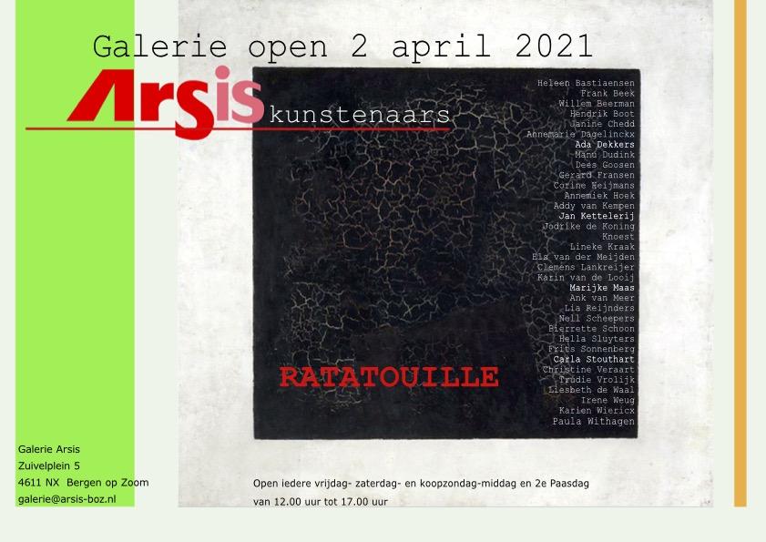Vanaf 2 april RATATOUILLE, Expositie van Arsis kunstenaars in Galerie Arsis.