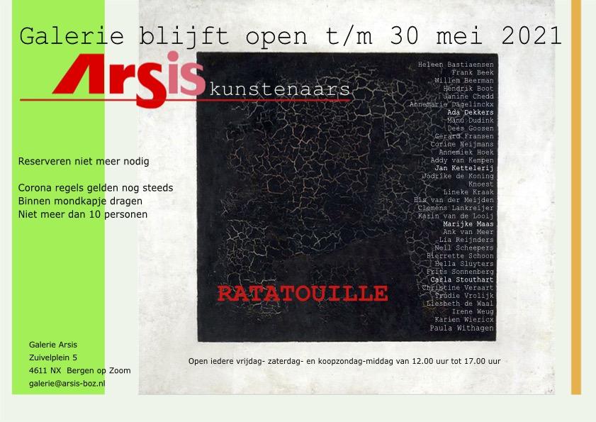 flyer Arsis galerie 30 mei