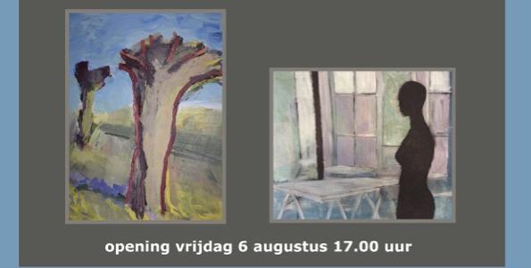 Een boeiende combinatie. Expositie schilderijen van Victor van de Lande en Marcel van Tienen van 30 juli t/m 29 augustus 2021 in Galerie Arsis